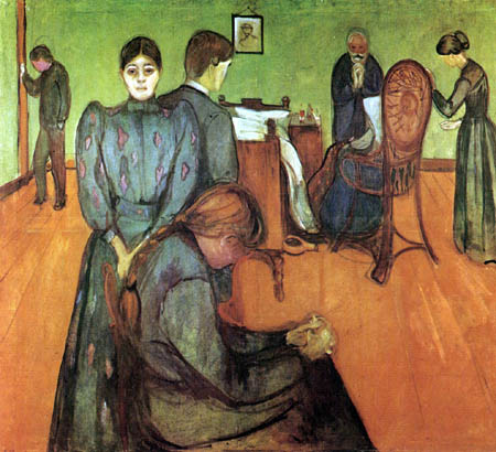 Edvard Munch - La mort dans la chambre du malade