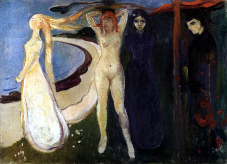 Edvard Munch - The Woman, Sphinx