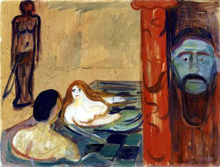 Edvard Munch - Jealousy in the bathroom