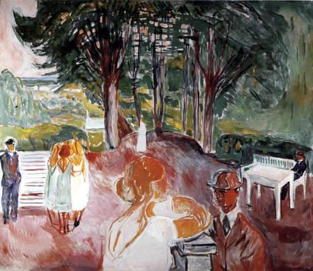 Edvard Munch - The Flirt in the park I