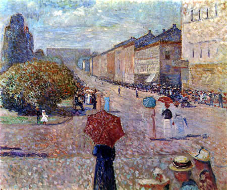 Edvard Munch - Spring Day on Karl Johan Street
