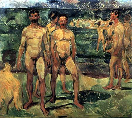 Edvard Munch - Bathing Men