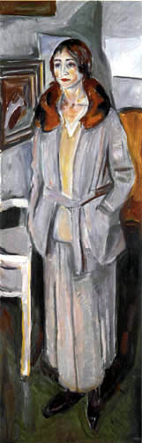 Edvard Munch - Woman in gray suit with fur collar