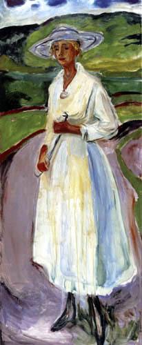 Edvard Munch - Woman in a white dress