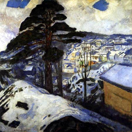 Edvard Munch - Winter in Kragerø