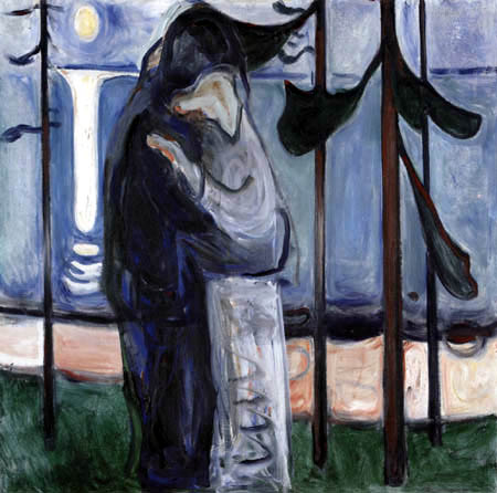 Edvard Munch - Baiser sur la plage au clair de lune