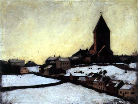 Edvard Munch - The old church of Aker