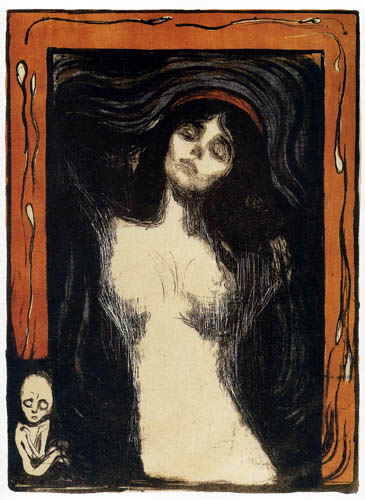 Edvard Munch - Madone, Conception