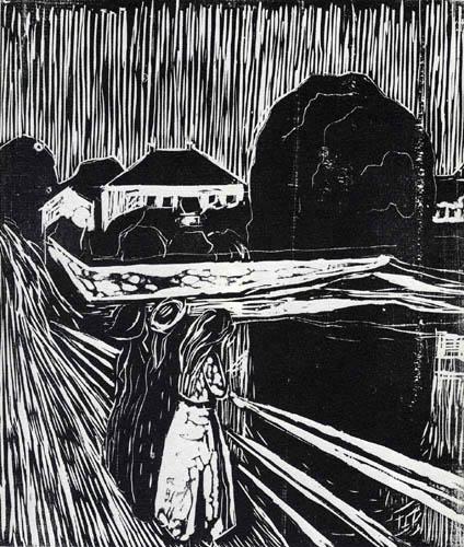 Edvard Munch - Filles sur le pont