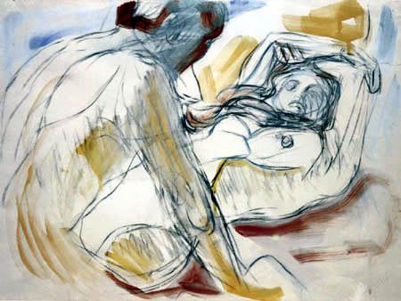 Edvard Munch - Man and Woman