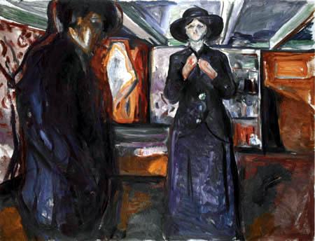 Edvard Munch - Man and Woman II