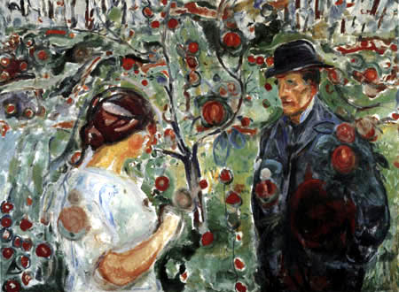 Edvard Munch - Man and woman in the garden II
