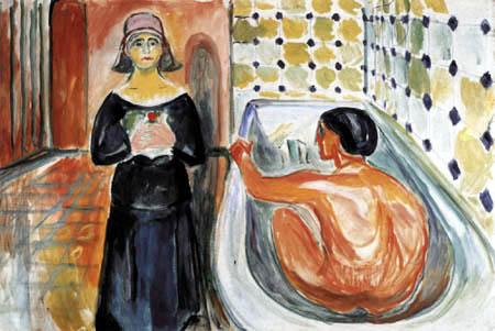 Edvard Munch - Marat in der Badewanne und Charlotte Corday I