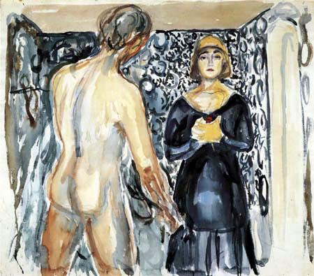 Edvard Munch - Marat und Charlotte Corday I