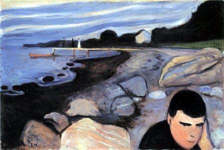 Edvard Munch - Melancholy, Jappe on the Beach