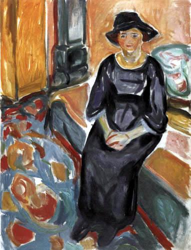 Edvard Munch - Femme au chapeau sur le canapé