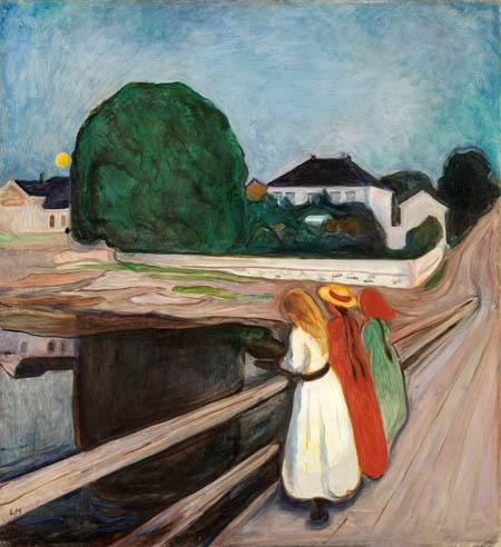 Edvard Munch - Girls on the bridge