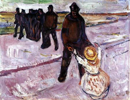 Edvard Munch - Der Arbeiter und das Mädchen