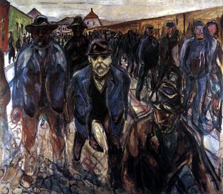 Edvard Munch - Les travailleurs sur le chemin du retour