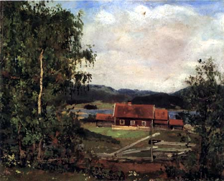 Edvard Munch - Maridalen near Oslo