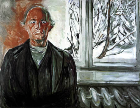 Edvard Munch - Autorretrato en la ventana