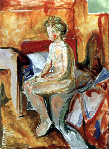Edvard Munch - Nude on the bed