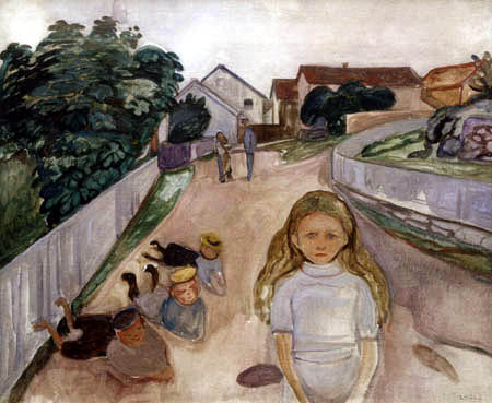 Edvard Munch - Playing Children in the Street in Åsgårdstrand