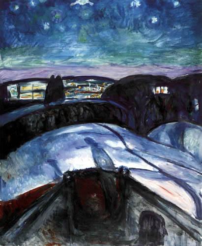 Edvard Munch - Nuit étoilée