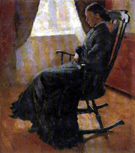 Edvard Munch - Aunt Karen in the Rocking Chair