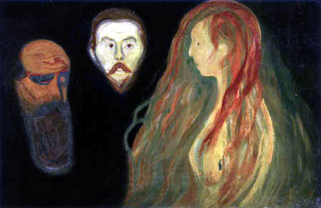 Edvard Munch - Tragedy, Three Faces