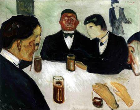 Edvard Munch - Trinkgesellschaft