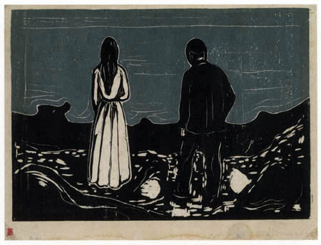 Edvard Munch - Two lonely people
