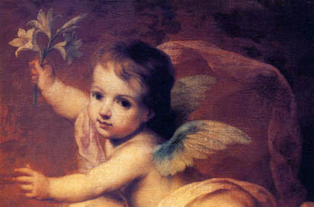 Bartolomé Esteban Murillo (Pérez) - Immaculate Conception, detail
