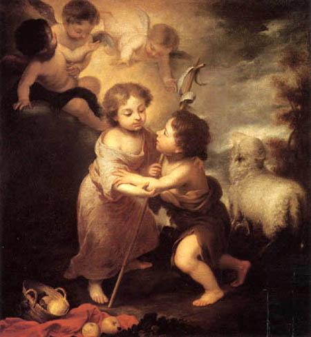 Bartolomé Esteban Murillo (Pérez) - Jesus-Christ and St Jean-Baptist as children