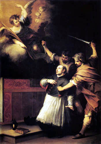 Bartolomé Esteban Murillo (Pérez) - The death of San Pedro de Arbués