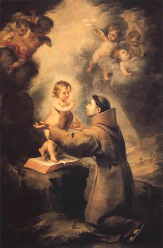 Bartolomé Esteban Murillo (Pérez) - The vision of the St Antony of Padua