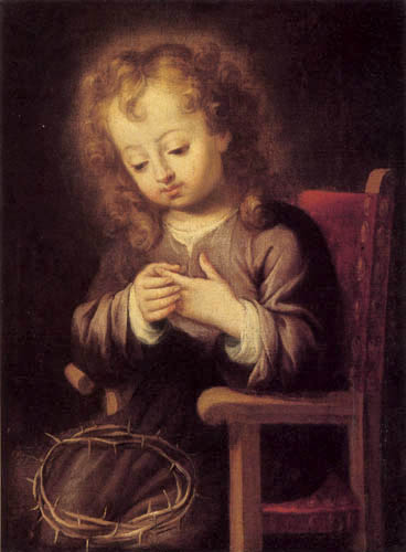 Bartolomé Esteban Murillo (Pérez) - The Jesus child, stung of the thorn crown