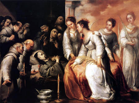 Bartolomé Esteban Murillo (Pérez) - The death of Saint Clare