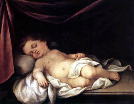 Bartolomé Esteban Murillo (Pérez) - The Jesus child, sleeping