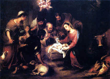 Bartolomé Esteban Murillo (Pérez) - Adoration of the Shepherds