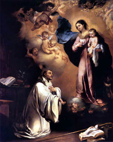 Bartolomé Esteban Murillo (Pérez) - The vision of St. Bernard
