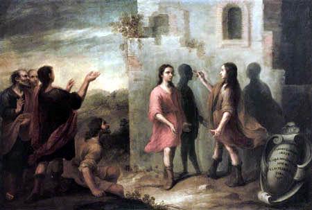 Bartolomé Esteban Murillo (Pérez) - The invention of the painting