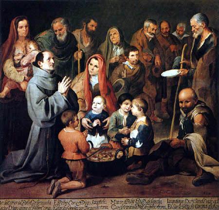Bartolomé Esteban Murillo (Pérez) - San Diego Giving Food to the Poor