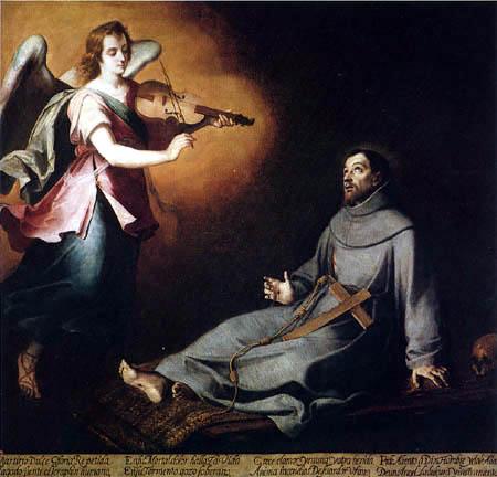 Bartolomé Esteban Murillo (Pérez) - St. Francis Comforted by an Angel