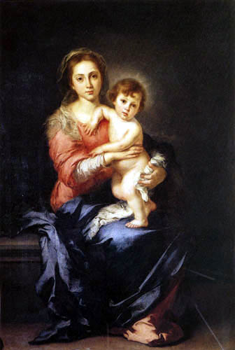 Bartolomé Esteban Murillo (Pérez) - Virgin and Child