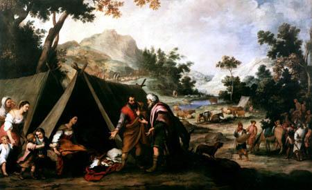 Bartolomé Esteban Murillo (Pérez) - Laban Searching for his Stolen Household Gods in Rachel´s Tent