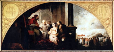 Bartolomé Esteban Murillo (Pérez) - The Patrician John and his Wife before Pope Liberius