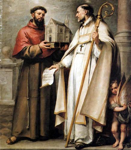 Bartolomé Esteban Murillo (Pérez) - San Leandro and San Buenaventura