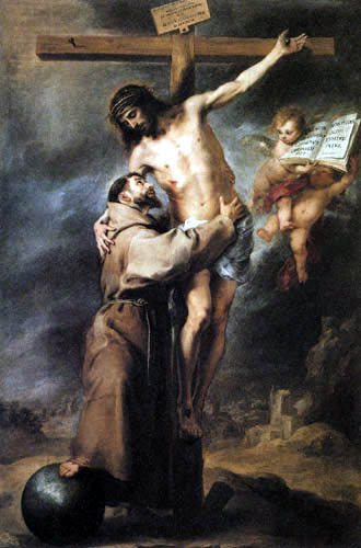Bartolomé Esteban Murillo (Pérez) - St. Francis Embracing the Crucified Christ