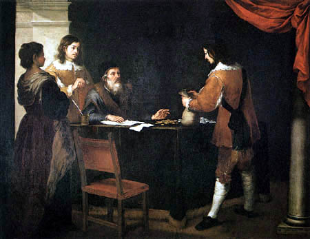 Bartolomé Esteban Murillo (Pérez) - The Prodigal Son Receiving his Portion